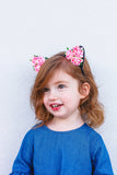 pink floral cat ear headband