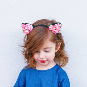 floral cat ear headband