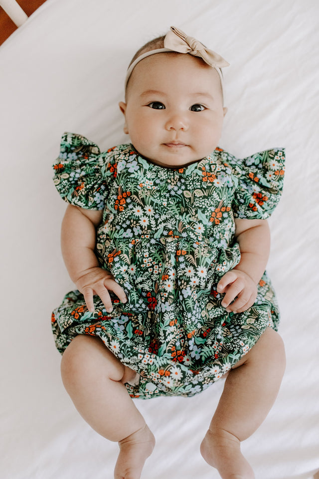 rifle paper baby girls bubble romper