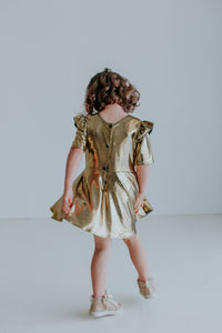 gold birthday party dress