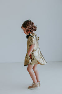 little girls gold leotard dress
