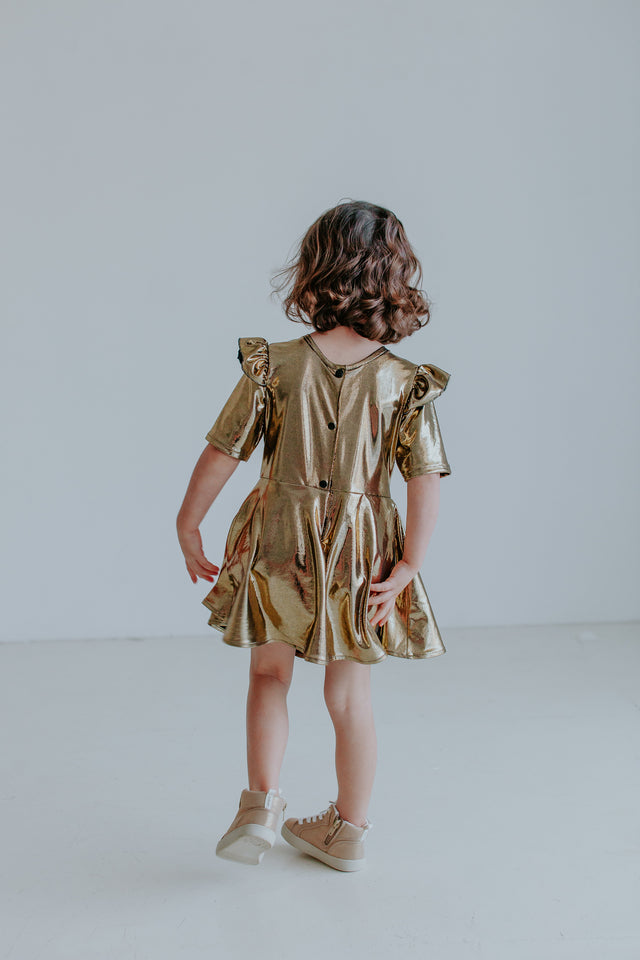 little girls gold dress