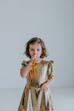 gold kids dress