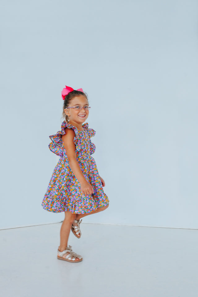 floral party dress for girls