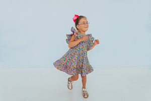 floral twirly dress little girl