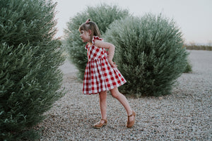 Birdie Red and White Buffalo Plaid Dress