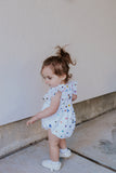 Infant Girls White Confetti Tulle Bubble Romper