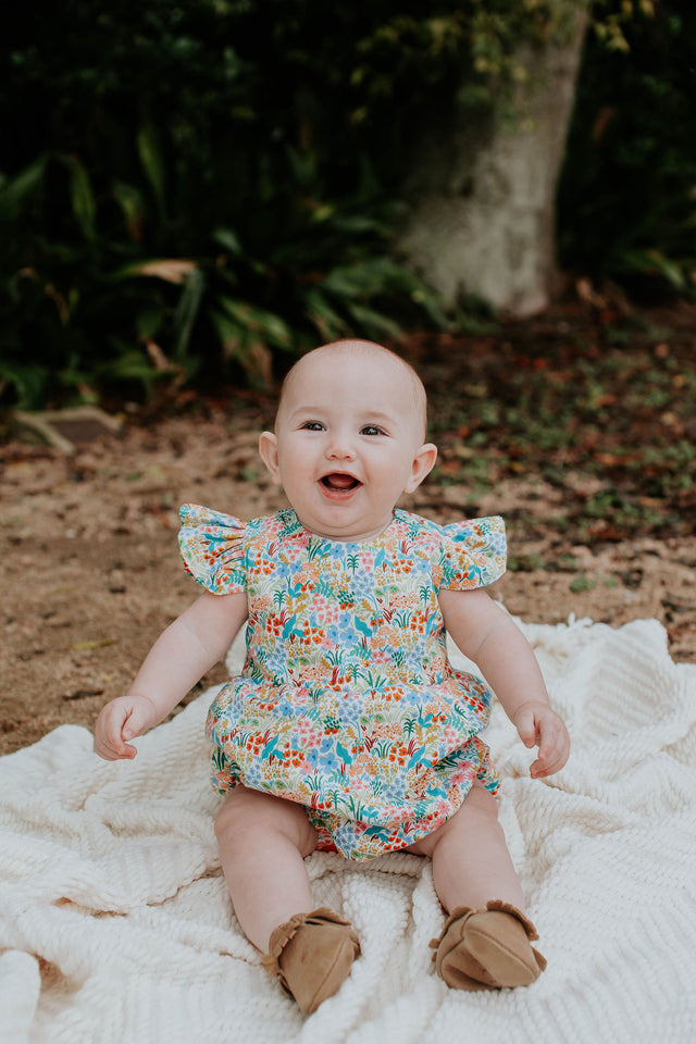 little girls rifle paper co bubble romper