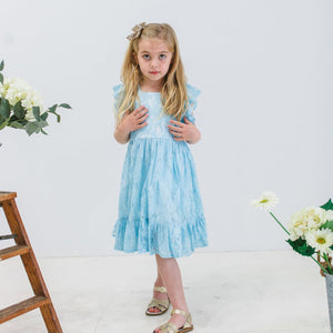 blue lace dress for girls