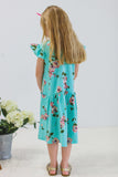 little girls turquoise dress
