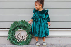 velvet christmas dress for kids