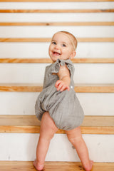 gray bubble rompers