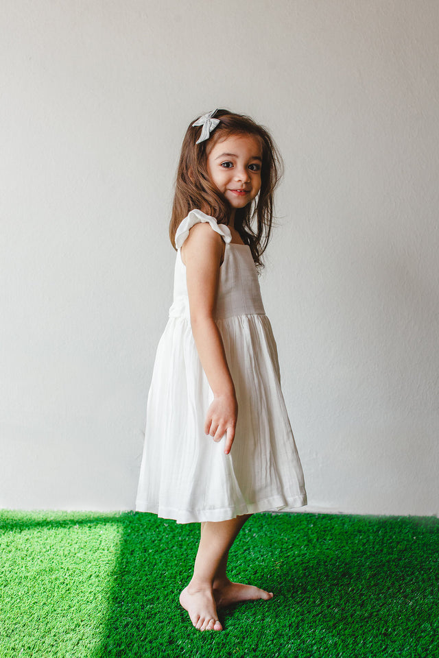 little girls white dress
