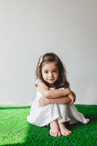 simple white dress for kids