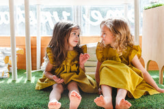 mustard yellow dress girls
