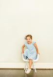 Little Girl's Light Blue Jersey Dress