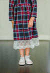 lace and plaid girls dress