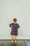 lace flannel dress little girls fall