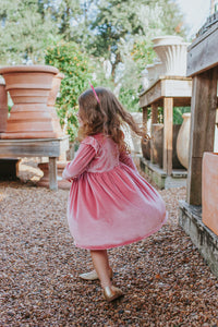pink velvet dresses girls