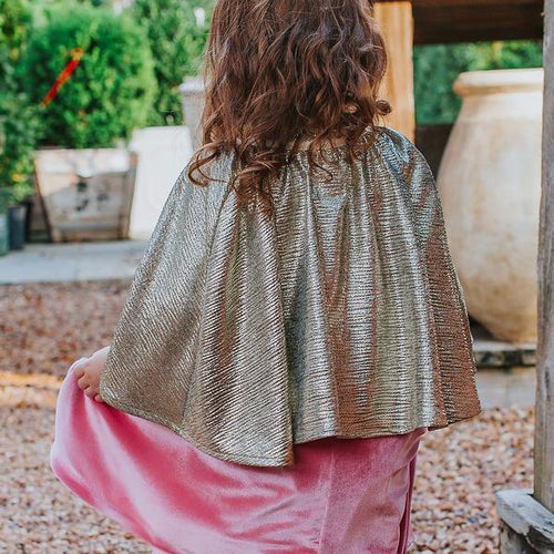 girls gold cape