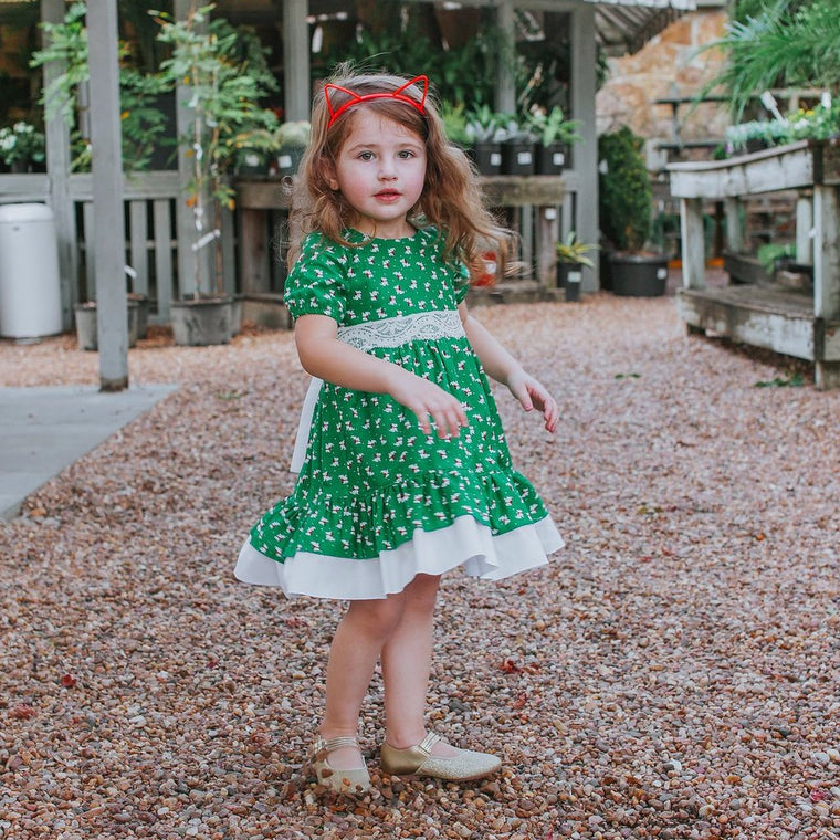 kids vintage Christmas dress