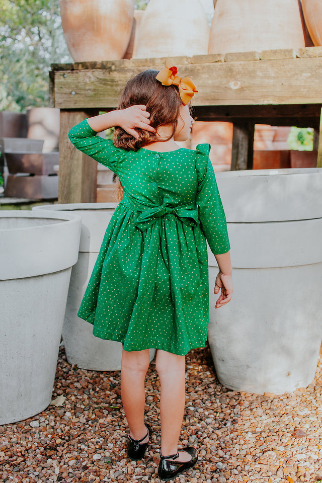 green Christmas dress kids