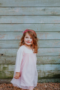 little kids pink cotton dress