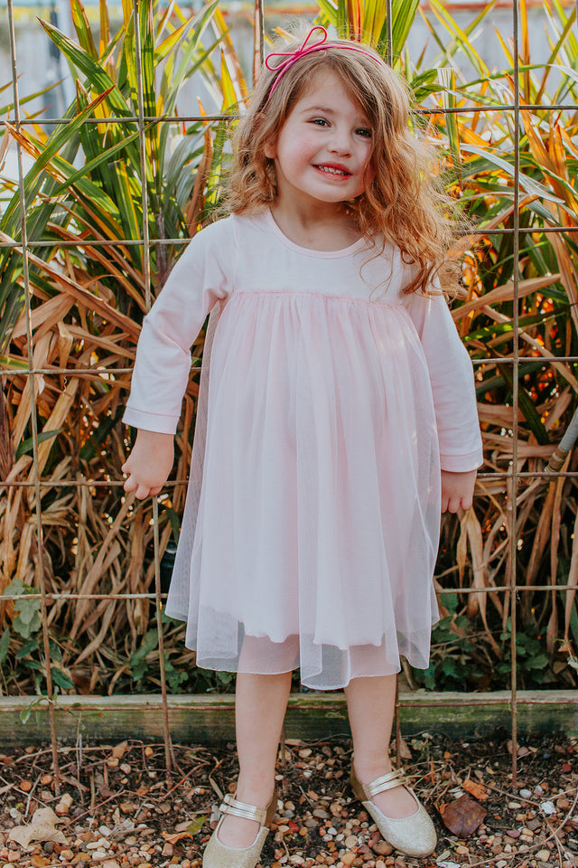 little girls pink dress