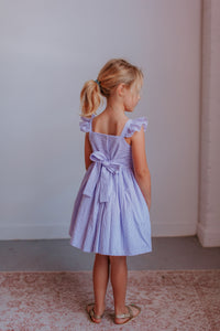 girls lavender seersucker dress
