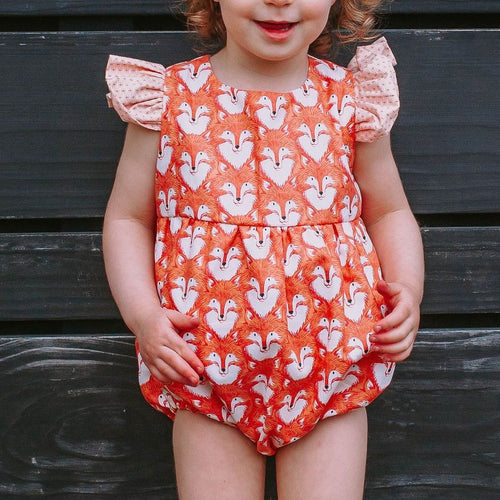 Infant Girl's Woodland Fox Print Print Bubble Romper