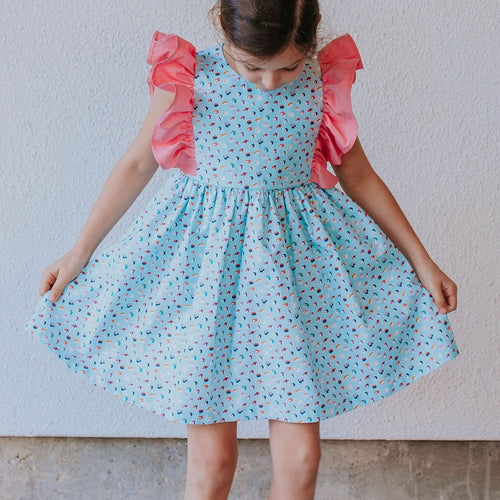 little girls sushi theme dress