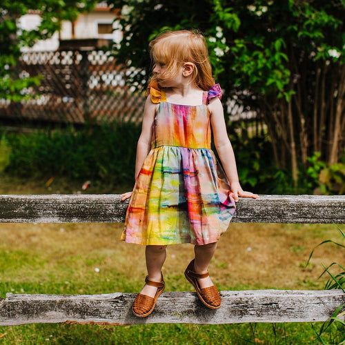 rainbow tie dye dress