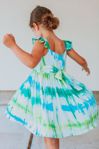 little girls tie dye dresses