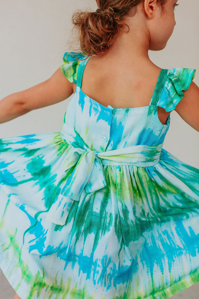 little girls tie dye dress
