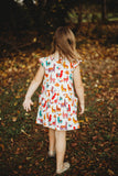 alpaca print little girls dress