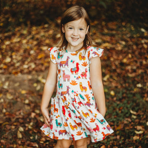 little girls alpaca dress