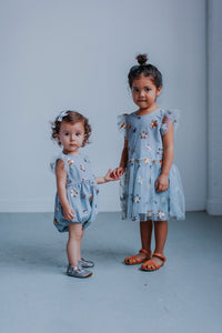 little girls matching gray outfits