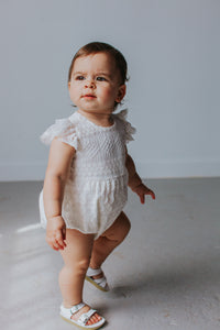 white lace rompers baby