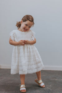 white lace dress kids
