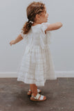 Girl's White Boho Lace Dress