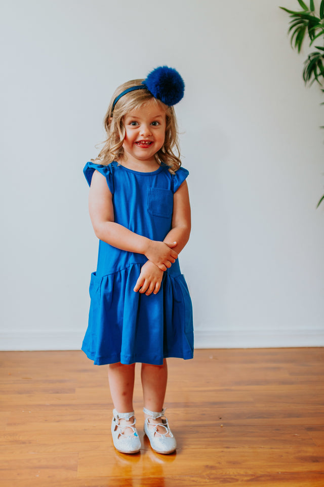 royal blue jersey dress