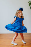 kids liberty blue dress