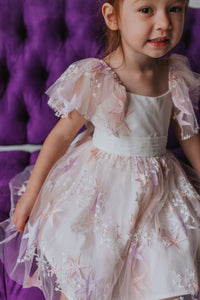 pink lace star dress girls