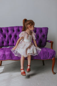 kids pink lace dress
