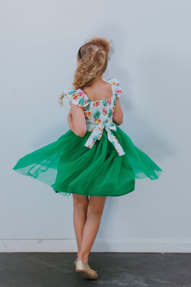 pineapple party dress