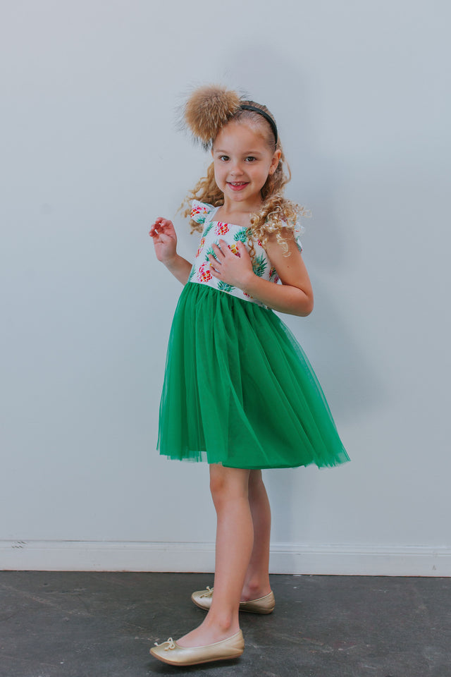 girls pineapple party dress