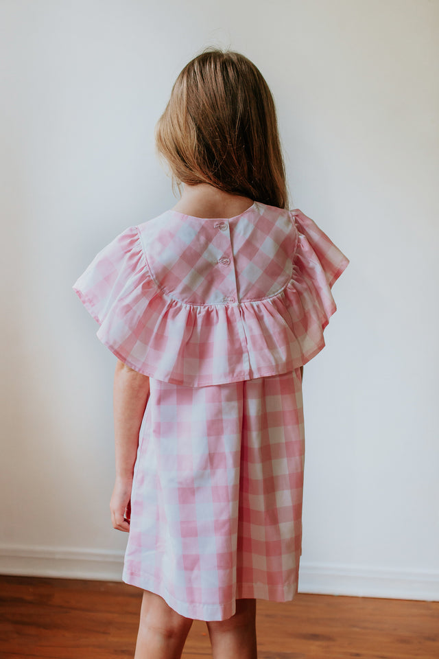 toddler pink plaid dress