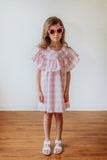 pink plaid dress for girls