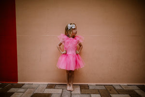 Molly Pink Ruffle Party Dress
