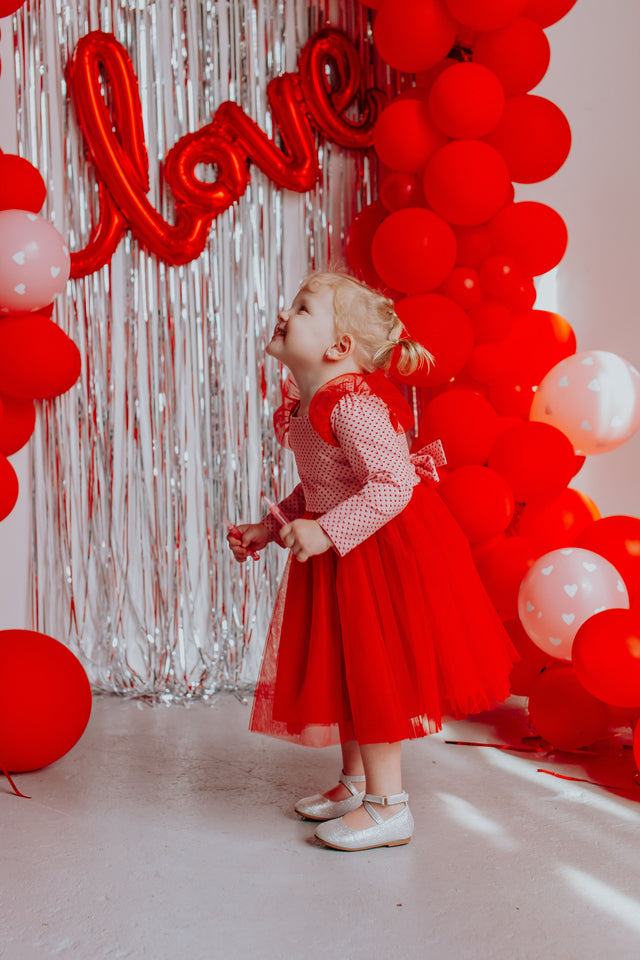little girls Valentine's Day dress